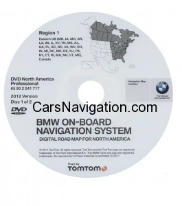 2012 BMW North American Map DVD Professional Region 1 (East)