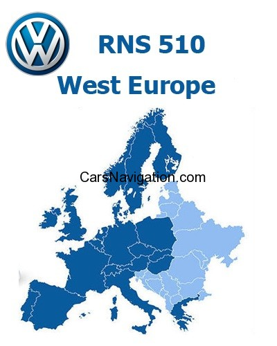 VW WESTERN EUROPE RNS510-7920 Navigation DVD