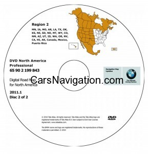 2011 BMW North American Map DVD Professional Region 2