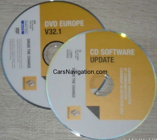 2012-2013 Renault DVD Carminat Navigation Communication