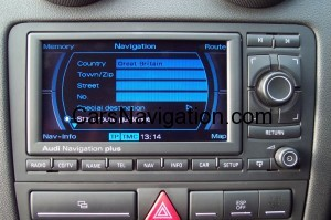 2013 Audi Navigation Plus RNS-E Central West Europe