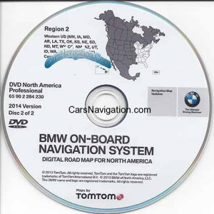2014 BMW North American Map DVD Professional West